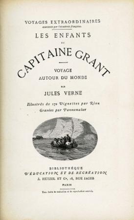 """Jules Verne, """"The Children of Captain Grant"""", Flyleaf by Jules Verne"""