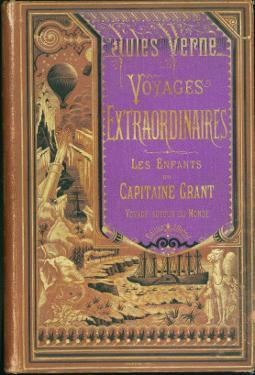 """Jules Verne, """"The Children of Captain Grant Travel around the World"""", Cover by Jules Verne"""
