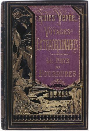 """Jules Verne, """"The Fur Country"""", Cover by Jules Verne"""
