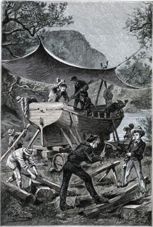 """Jules Verne, """"Two Years Holiday"""", Illustration by Jules Verne"""