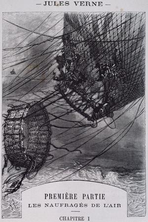 Shipwrecked in Air, Illustration for Mysterious Island by Jules Verne