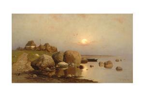 A Fishing Village, 1892 by Juli Julievich Klever