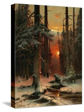 Snow in Forest, 1885 by Juli Julievich Klever