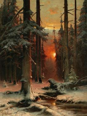 Snow in Forest, 1885 by Juli Julievich Klever