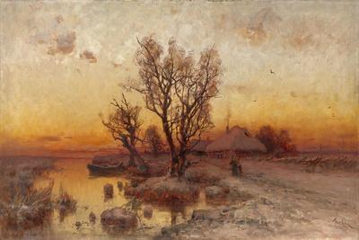 Sunset over a Ukrainian Hamlet, 1915