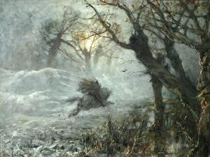 The King of the Woods, Ca 1887 by Juli Julievich Klever