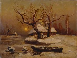 Winter Evening, 1911 by Juli Julievich Klever