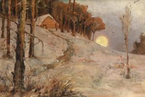 Winter Forest in a Rays of Evening Sun, 1902 by Juli Julievich Klever