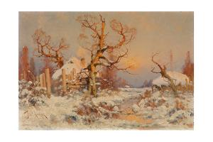 Winter Landscape in the Evening Sun by Juli Julievich Klever