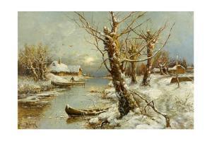 Winter River Landscape, 1897 by Juli Julievich Klever