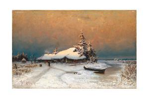 Winter Sunset, 1887 by Juli Julievich Klever