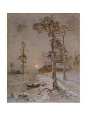 Winter Sunset, 1900 by Juli Julievich Klever