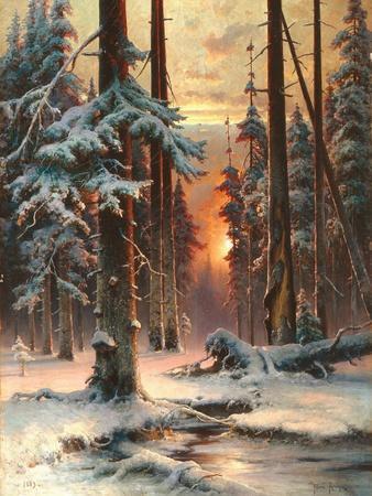 Winter Sunset in the Fir Forest, 1889