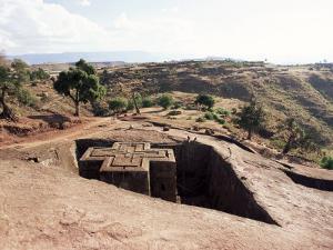 Bet Giorgis Church, Lalibela, Unesco World Heritage Site, Ethiopia, Africa by Julia Bayne