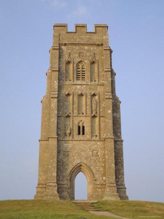 The Tower, Glastonbury Tor, Glastonbury, Somerset, England, UK
