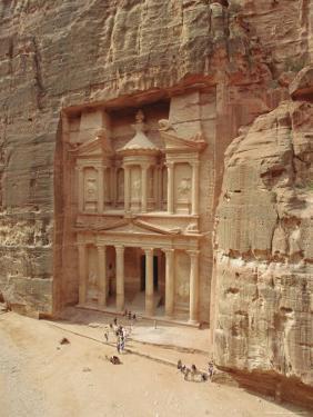 The Treasury, Petra, Jordan, Middle East by Julia Bayne