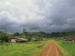 Typical Village in Western Cameroon, Africa by Julia Bayne