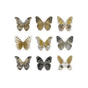 Butterfly Study in Gold I by Julia Bosco