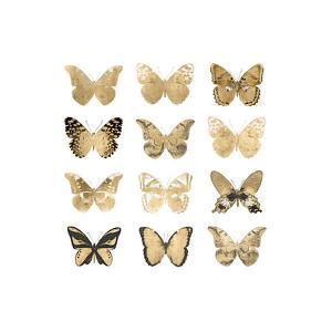Butterfly Study in Gold II by Julia Bosco