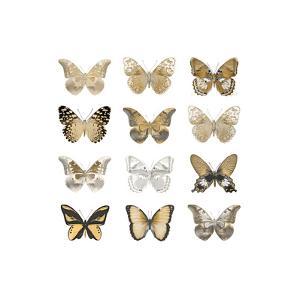 Butterfly Study in Gold III by Julia Bosco