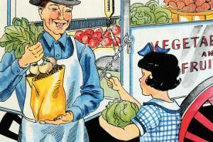 Buying Vegetables by Julia Letheld Hahn