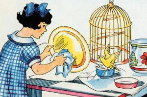 Cleaning the Birdcage by Julia Letheld Hahn