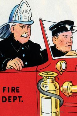 Fire Chief And Driver by Julia Letheld Hahn