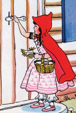 Little Red Riding Hood Knocks on Grandma's Door by Julia Letheld Hahn