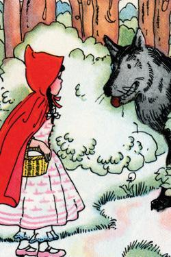 Little Red Riding Hood Meets the Wolf by Julia Letheld Hahn