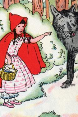 Little Red Riding Hood Tells the Wolf of Her Trip by Julia Letheld Hahn