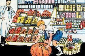 Selecting a Pumpkin by Julia Letheld Hahn