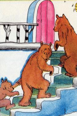 Three Bears Go Upstairs by Julia Letheld Hahn