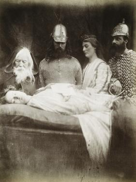 Lancelot and Elaine by Julia Margaret Cameron
