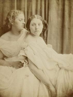 Teachings from the Elgin Marbles, 1867 (Thin Photographic Paper Laid on Card Backing) by Julia Margaret Cameron
