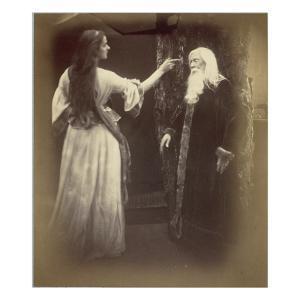 Vivien and Merlin by Julia Margaret Cameron