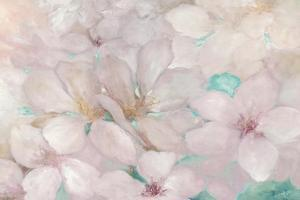 Apple Blossoms Teal by Julia Purinton