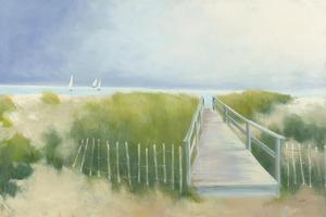 Beach Walk with Boats by Julia Purinton