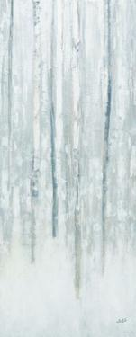 Birches in Winter Blue Gray Panel II by Julia Purinton
