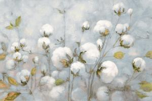 Cotton Field Blue Gray Crop by Julia Purinton