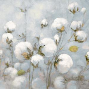 Cotton Field Blue Gray Crop by Julia Purinton