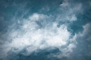 Hedgerow II Clouds by Julia Purinton