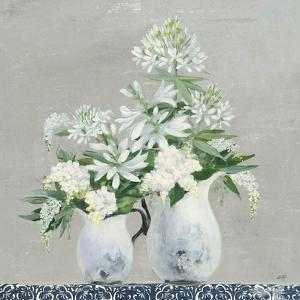 Late Summer Bouquet III with Tile by Julia Purinton