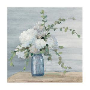 Morning Bouquet Navy Crop by Julia Purinton
