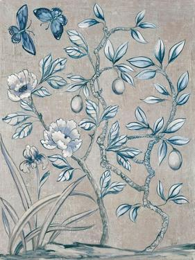 Shimmering Garden I Navy by Julia Purinton