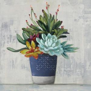 Succulent Still Life I Navy by Julia Purinton