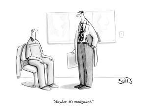 """""""Anyhoo, it's malignant."""" - New Yorker Cartoon by Julia Suits"""