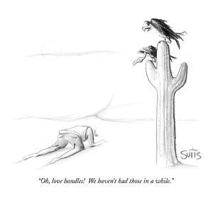 """""""Oh, love handles!  We haven't had those in a while."""" - New Yorker Cartoon by Julia Suits"""