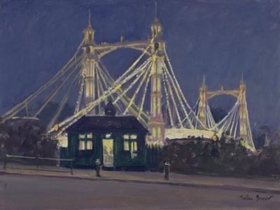 Albert Bridge - Night by Julian Barrow