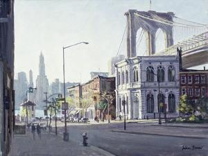 Brooklyn Bridge, New York by Julian Barrow