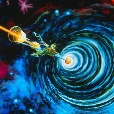 Artwork of Bussard RamScoop Starship
